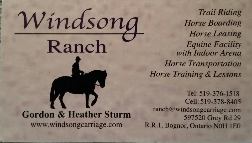 Windsong Carriage & Ranch logo
