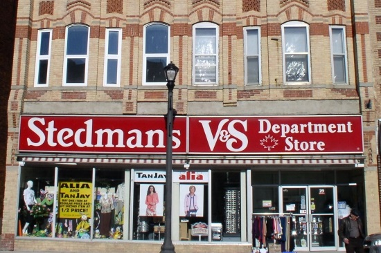 Stedmans V&S Department Store logo